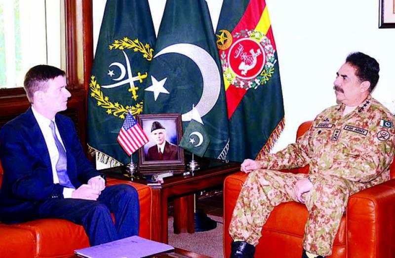 امریکی سفیر کی ملاقات: جنرل راحیل کا ڈرون حملے پر شدید اظہار تشویش