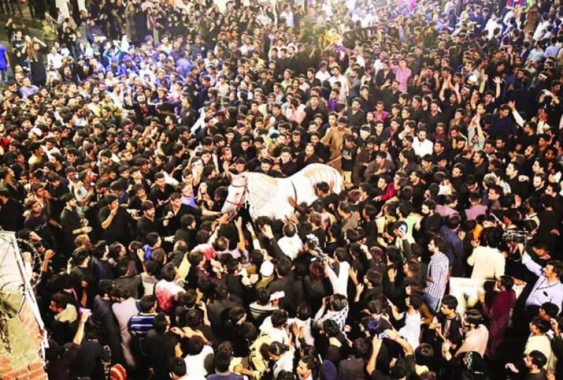یوم عاشور عقیدت و احترام سے منایا گیا کراچی سمیت ملک ملک بھر میں جلوس
