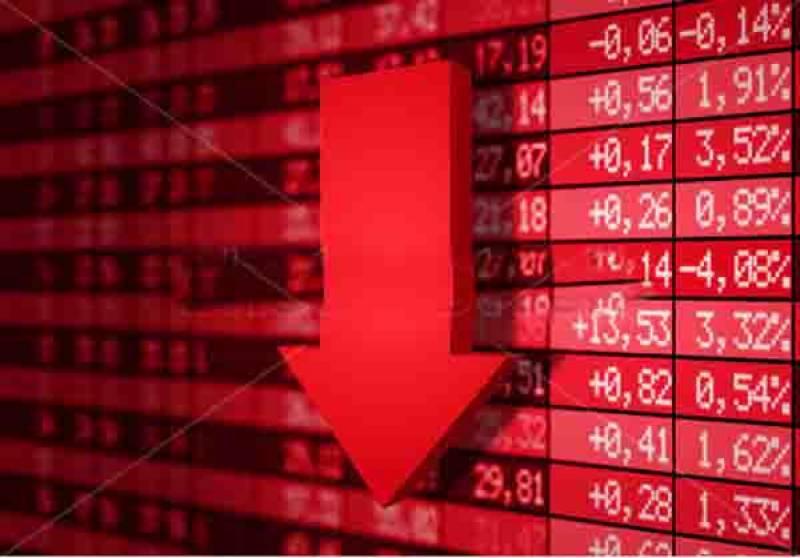 سٹاک مارکیٹ: اپوزیشن کے احتجاج کی کال سے غیر ملکی سرمائے کا متواتر انخلا ، انڈیکس میں237 پوائنٹس کی کمی