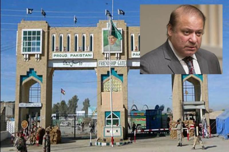 وزیراعظم کا حکم ، افغان سرحد اوپن, دہشت گردی کے تانے بانےافغانستان میں موجود پاکستان دشمن عناصر سے جاملتے ہیں:نواز شریف