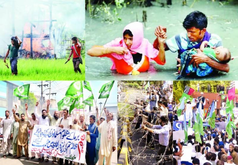 میانمار:15 روز میں سینکڑوں روہنگیا مسلمان قتل ہوئے، اقوام متحدہ: پاکستان سمیت دنیا بھر میں زبردست مظاہرے