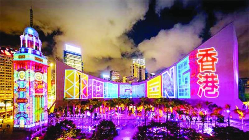 ہانگ کانگ میں لائٹ شو لوگوں کی بھرپور دلچسپی