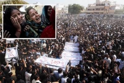 بم دھماکوں میں جاں بحق ہونیوالے سپردخاک تعداد 33 ہو گئی....کراچی اور اندرون سندھ ہژتال مظاہرے