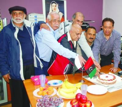 پیپلز پارٹی بیلجیم کے رہنماوں اور کارکنوں نے بینظیر کی 58ویں سالگرہ کا کیک کاٹا