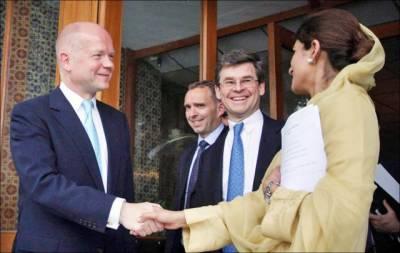 پاکستان اور برطانیہ تجارت' دفاع' تعلیم' صحت' سکیورٹی سمیت مختلف شعبوں میں تعاون پر متفق