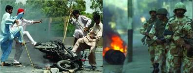 کراچی فائرنگ....راکٹ اور بم حملے' 25 ہلاک' صدر نے آج اجلاس بلا لیا' ڈبل سواری پر پھر پابندی' آپریشن مشاورت سے ہو گا : رحمن ملک