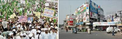 ممتاز قادری کی سزا کیخلاف دینی جماعتوں کے ملک گیر احتجاجی مظاہرے' لاہور سمیت کئی شہروں میں ہڑتال