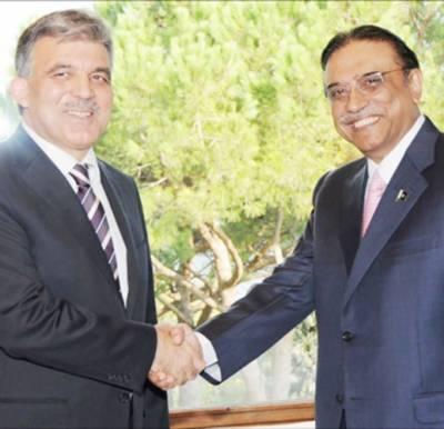زرداری' عبداللہ گل ملاقات: کرنسی معاہدہ کو حتمی شکل دینے پر اتفاق' اسامہ برائی کا منبع تھا' انجام کو پہنچ گیا: صدر
