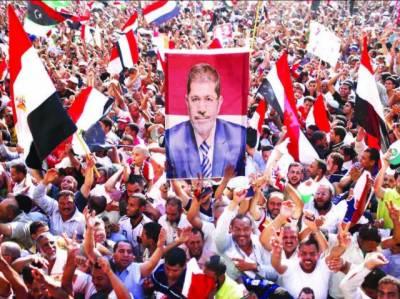 مصر: اخوان المسلمون کے محمد مرسی صدر منتخب' الیکشن کمشن کے اعلان پر تحریر سکوائر میں لاکھوں افراد کا جشن' اللہ اکبر کے نعرے
