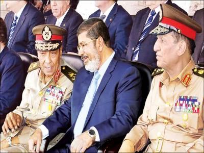 مصر: میجر جنرل عبدالمینم نئے ایئر چیف ایڈمرل اسامہ نیول چیف تعینات' ہٹائے گئے جرنیلوں کو میڈلز ' مصری صدر نے فوج کے منہ پر طمانچہ مارا: عالمی میڈیا