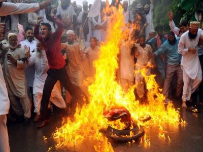 گستاخانہ فلم کی اشاعت کے خلاف دینی سیاسی سماجی تنظیموں کی جانب سے احتجاج جاری
