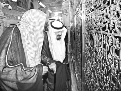 مدینہ منورہ: شاہ عبداللہ نے مسجد نبوی کی توسیع کا سنگ بنیاد رکھ دیا