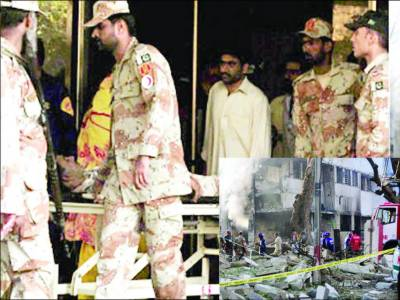 کراچی: رینجرز ہیڈکوارٹرز پر خودکش حملہ'3 اہلکار جاں بحق ' ٹارگٹ کلنگ میں 13 مارے گئے