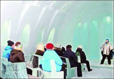 سوئیڈن: برف سے بنا ہوٹل جہاں ہر چیز برف کی ہے