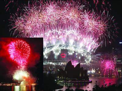نئے سال کا دنیا بھر میں بھرپور استقبال، آتشبازی کی گئی