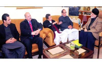 شجاعت اور پرویز الہٰی نے طاہر لقادری کی انتخابی اصلاحات کی حمایت کا اعلان کر دیا