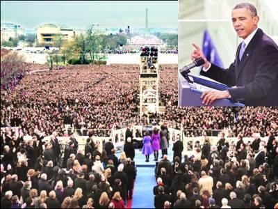 جنگوں کا عشرہ ختم ہو رہا ہے' ہر جگہ جمہوریت کی حمایت کریں گے: اوباما' تقریب حلف برداری میں 9 لاکھ افراد کی شرکت