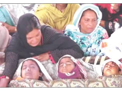 سیالکوٹ: مکان کی چھت گر گئی' 3 بہن بھائی جاں بحق' 2 زخمی