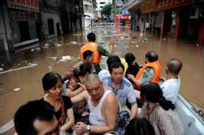 چین: شدید بارشوں کے بعد سیلاب نے تباہی مچادی، ہزاروں افراد گھروں میں محصور