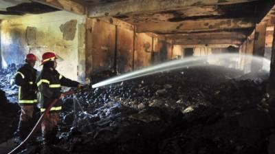 گارمنٹس فیکٹری میں آتشزدگی لاکھوں مالیت کا سامان جل گیا