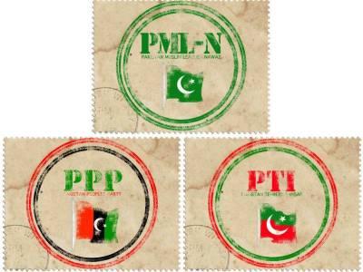 """""""تخت لاہور"""" کی 13 قومی اور 25 صوبائی نشستوں پر مسلم لیگ (ن) ' تحریک انصاف' پیپلز پارٹی میں مقابلہ ہو گا"""