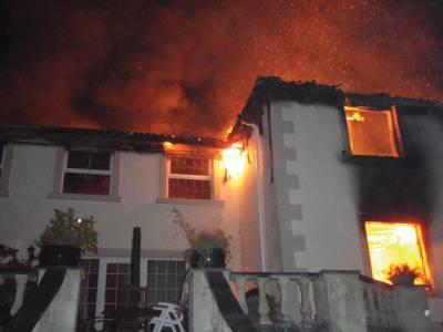 گھر اور سٹور میں آتشزدگی لاکھوں کا سامان جل گیا