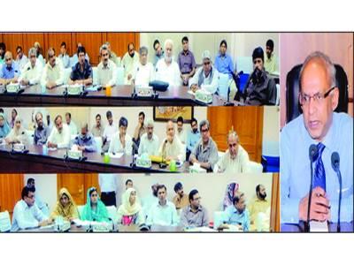 جامعہ زکریا کے شعبہ کے چیئرمینوں کو کوائف پراسپکٹس کمیٹی کے حوالے کرنے کی ہدایت