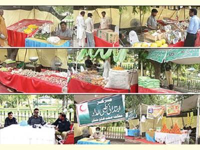 غیر معیاری اشیائ' رمضان بازاروں میں شہریوں کا خریداری سے گریز