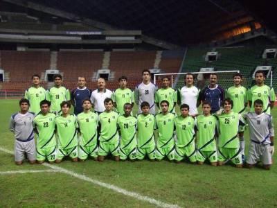 قومی انڈر 16 فٹبال ٹیم سیف چیمپئن شپ کا دفاع کرنے نیپال پہنچ گئی