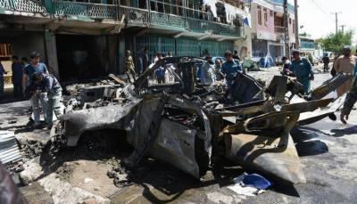 افغانستان: نیٹو قافلے پر خود کش حملہ، 5 اتحادی فوجیوں سمیت 13 زخمی