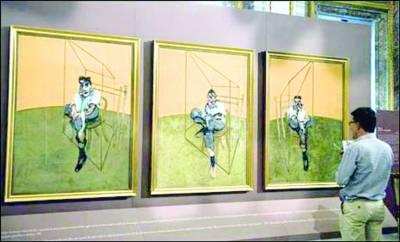 نیویارک: برطانوی مصورکی پینٹنگ 14کروڑ 20لاکھ ڈالر میں نیلام