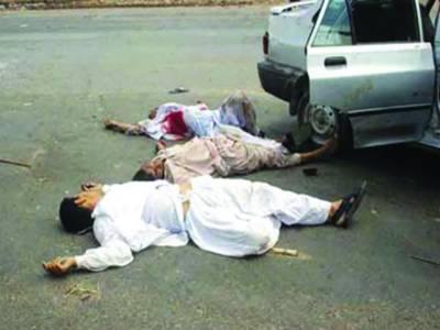 کراچی: فائرنگ، 2 افراد قتل، پولیس مقابلہ، 2 مفرور ملزم مارے گئے