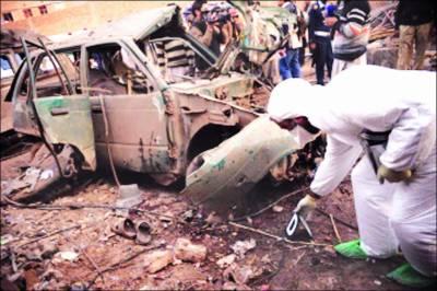 پشاور: ورکشاپ میں دھماکہ' 6 افراد جاں بحق' 10 زخمی' 7 گاڑیاں تباہ