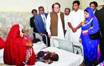 تھر متاثرین کیلئے ایک ارب روپے امداد کا اعلان' گندم کی تقسیم میں کوتاہی' سندھ حکومت کارروائی کرے : وزیراعظم