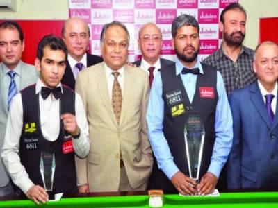 حمزہ اکبر کو شکست' نیشنل سنوکر چیمپئن شپ محمد آصف ٹوبہ نے جیت لی