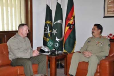 آرمی چیف سے ایساف کمانڈر کی ملاقات' پاکستان کا افغان سرحدی علاقوں میں گولہ باری پر احتجاج