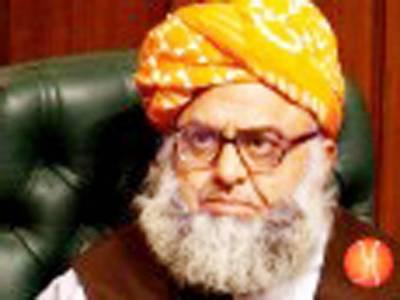 مذاکرات میں وزیراعظم کی نیت پر شک نہیں، طاقت کے استعمال کیخلاف ہیں: فضل الرحمن