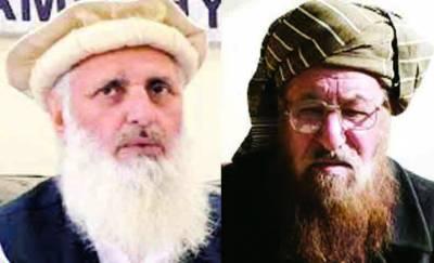 آپریشن کا مطالبہ کرنے والے ملک دشمن ہیں: سمیع الحق، فوج کارروائیاں ترک کر کے سنجیدگی دکھائے: پروفیسر ابراہیم