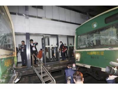 جنوبی کوریا: زیر زمین 2 ریلوے ٹرینوں میں تصادم،200 مسافر زخمی