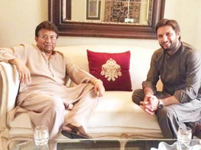 مشرف سے شاہد آفریدی کی ملاقات سابق صدر اور ان کی والدہ کی تیمارداری کیلئے گیا تھا: ٹیسٹ کرکٹر