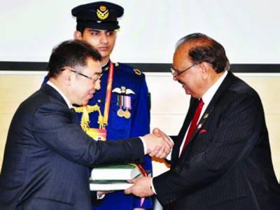 پاکستان، چین نے مضبوط سٹریٹجک شراکت داری کے لئے واضح راستے کا تعین کر لیا : صدر ممنون