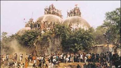 بابری مسجد کی شہادت کو آج 22 برس گزر گئے رام مندر مودی ایجنڈے میں سرفہرست