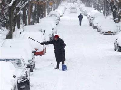 امریکی ریاستوں، بیلجئم میں شدید برفباری 3 افراد ہلاک، نظام زندگی درہم برہم