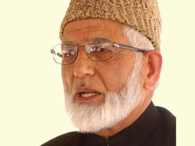 پاکستان' بھارت اقوام متحدہ کی قراردادوں کے مطابق مسئلہ کشمیر کا حل یقینی بنائیں: علی گیلانی