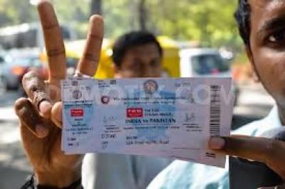 پاک بھارت میچ کے ٹکٹس کی زائد قیمت میں فروخت