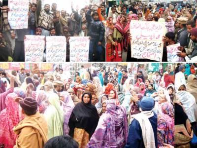 حافظ آباد: 7 سالہ بچی کو زیادتی کے بعد پتھر مار مار کر قتل کر دیا گیا' ورثا کا احتجاج