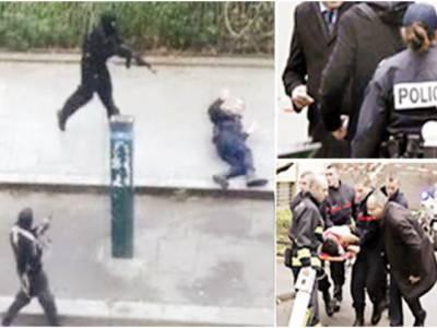 پیرس: گستاخانہ خاکے شائع کرنیوالے میگزین کے دفتر پر فائرنگ' 12 ہلاک