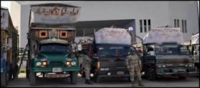 پاک فوج نے تھر کے متاثرہ افراد کیلئے 6 ٹرک امدادی سامان روانہ کر دیا