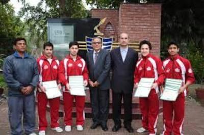 پنجاب جمناسٹک چیمپئن شپ گرلز اور بوائز مقابلوں میں لاہور جمناسٹک ٹیم نے ٹرافی جیت لی