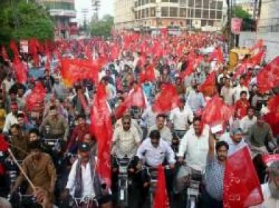 مزدوروں کا عالمی دن جوش و جذبے سے منایا گیا، لاہور سمیت ملک بھر میں ریلیاں